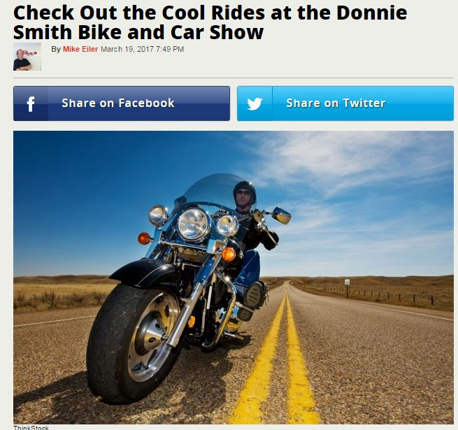 Media Updates of the Donnie Smith Bike Show