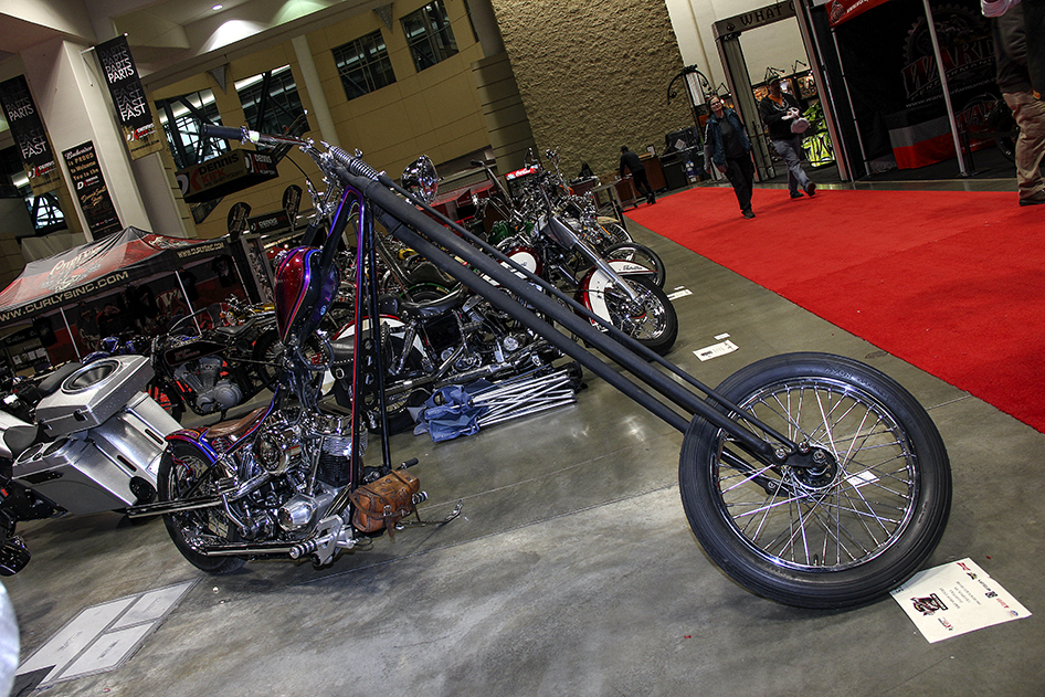 Long fork panhead at the 2019 Donnie Smith Bike & Car Show