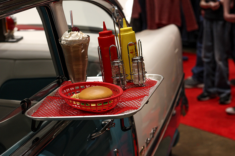 Drive thru tray on a Bel Air in the 2019 Donnie Smith Car Show