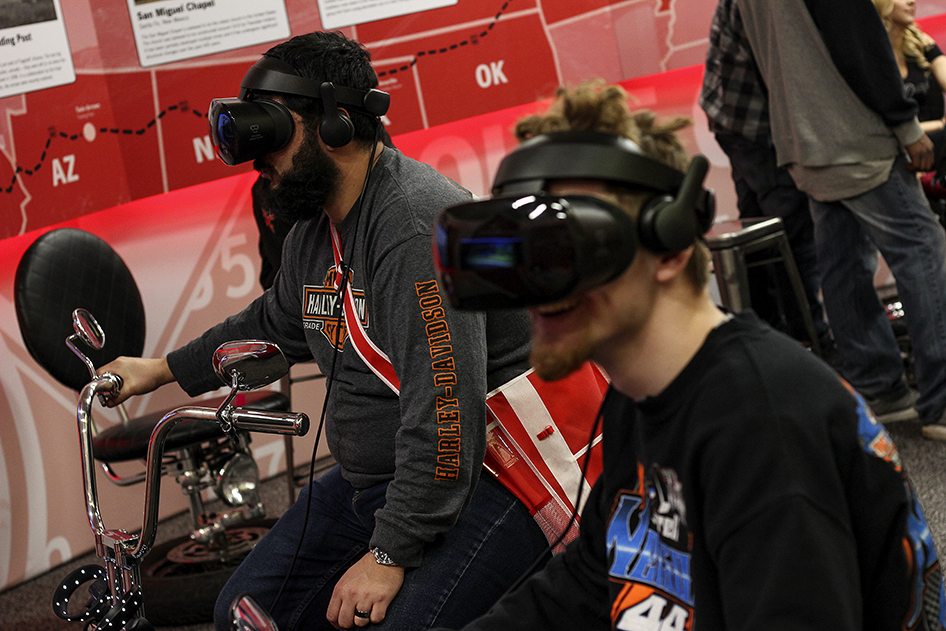 Virtual tours of Route 66 in the State Farm Display at the 2019 Donnie Smith Bike & Car Show