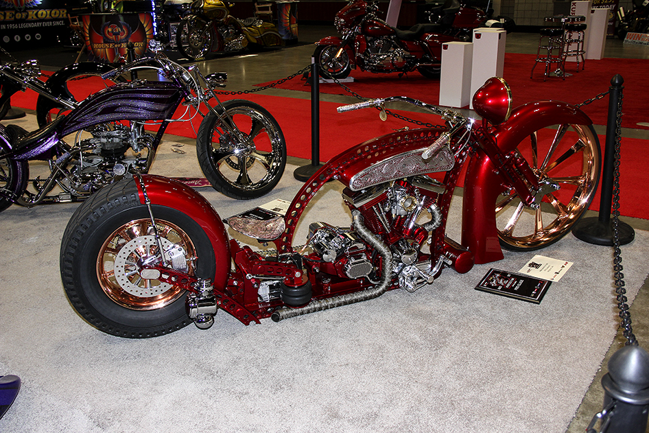 Ruby from PJ's Garage in the Pro Class at the Donnie Smith Bike and Car Show