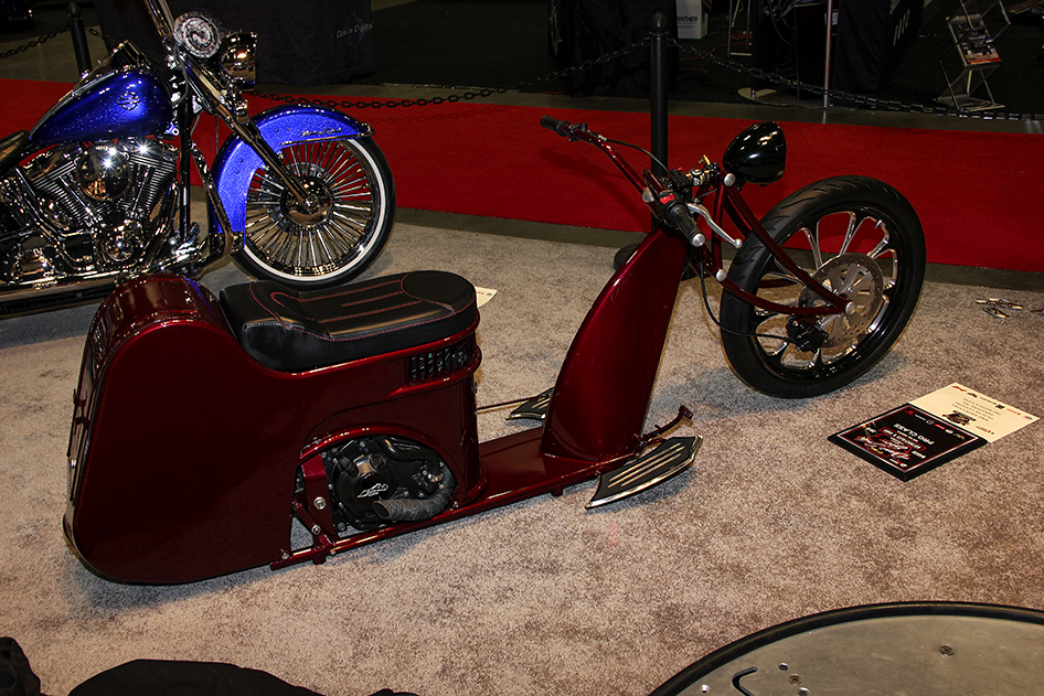Half scooter half lowrider in the pro class at the 2019 Donnie Smith Bike & Car Show